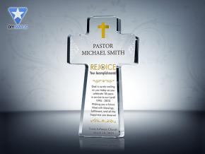 Pastor Appreciation Cross Plaques
